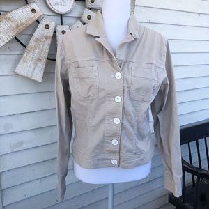 Khaki Button Down Collared Jacket